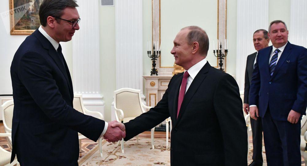 Vladimir Putin a Alexandar Vučič