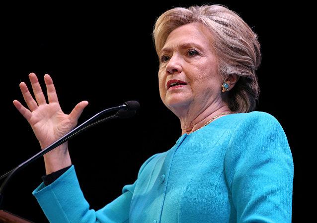 Kandidátka na post prezidenta USA za Demokratickou stranu Hillary Clintonová