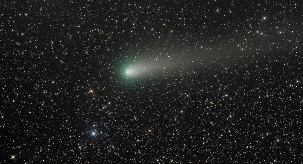 Kometa 21P při maximálním přiblížení ke Slunci. Ilustrační foto