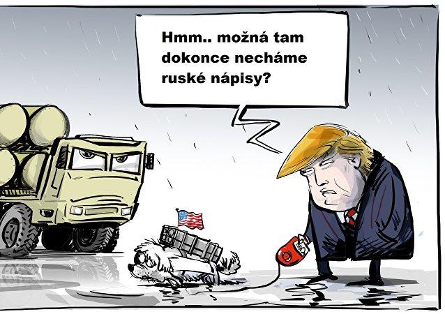 Donald Trump karikatura