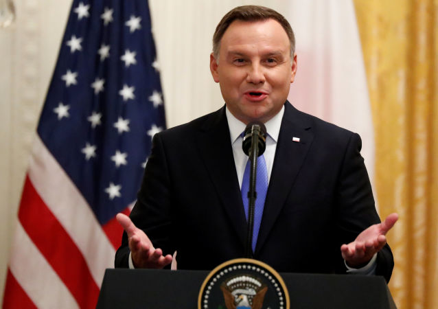 Polský prezident Adrzej Duda při návštěvě USA
