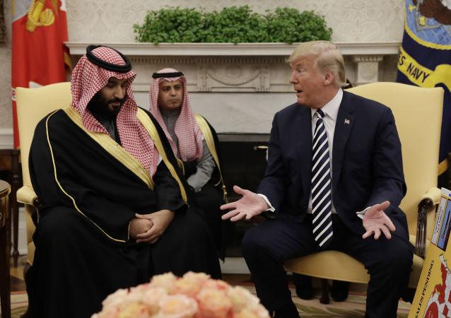 Mohamed bin Salmán a Donald Trump