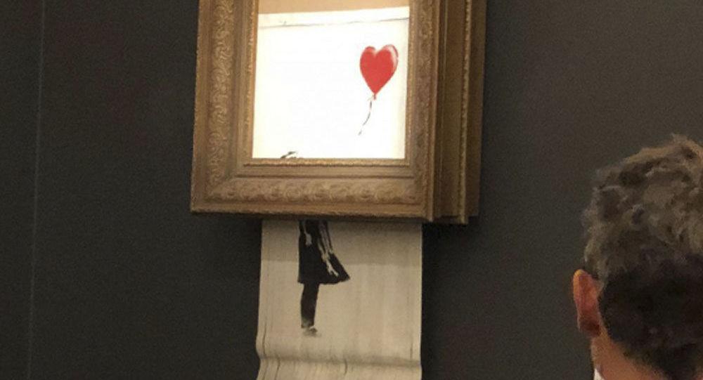 Obraz Banksyho Dívka s červeným balónkem (Láska v koši)