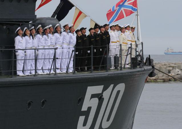 Posádka minolovky Leonid Sobolev
