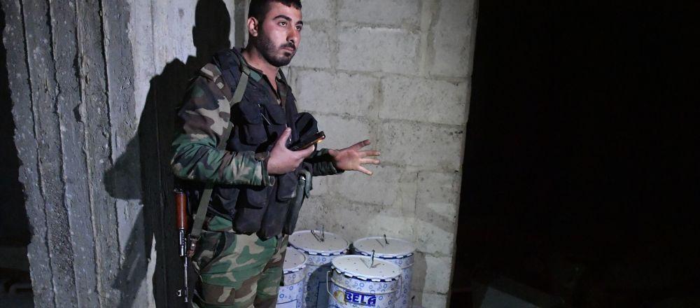 Chemické zbraně syrských ozbrojenců. Ilustrační foto