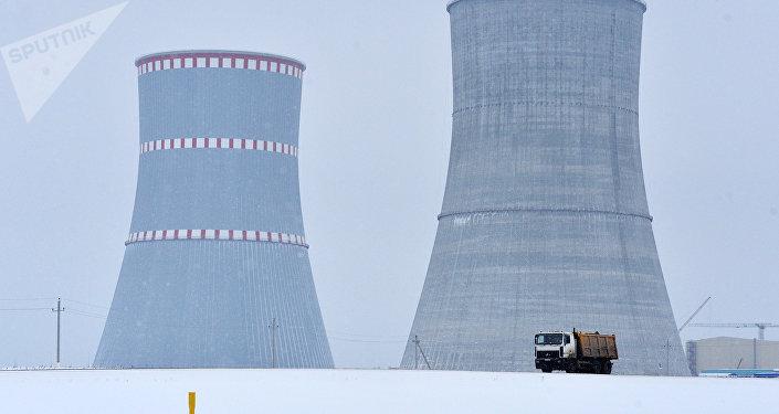 Běloruská jaderná elektrárna nedaleko  města Astravets v Hrodenské oblasti. Ilustrační foto