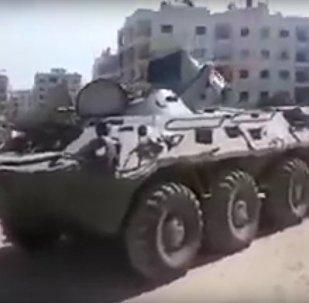 V Sýrii byla spatřena vzácná a velmi hlučná verze BTR-80