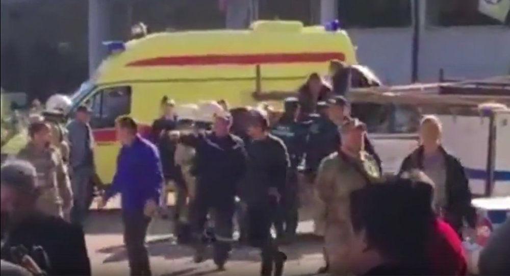 Výbuch v průmyslové střední škole v Kerči