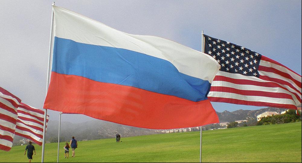 Vlajky USA a Ruska