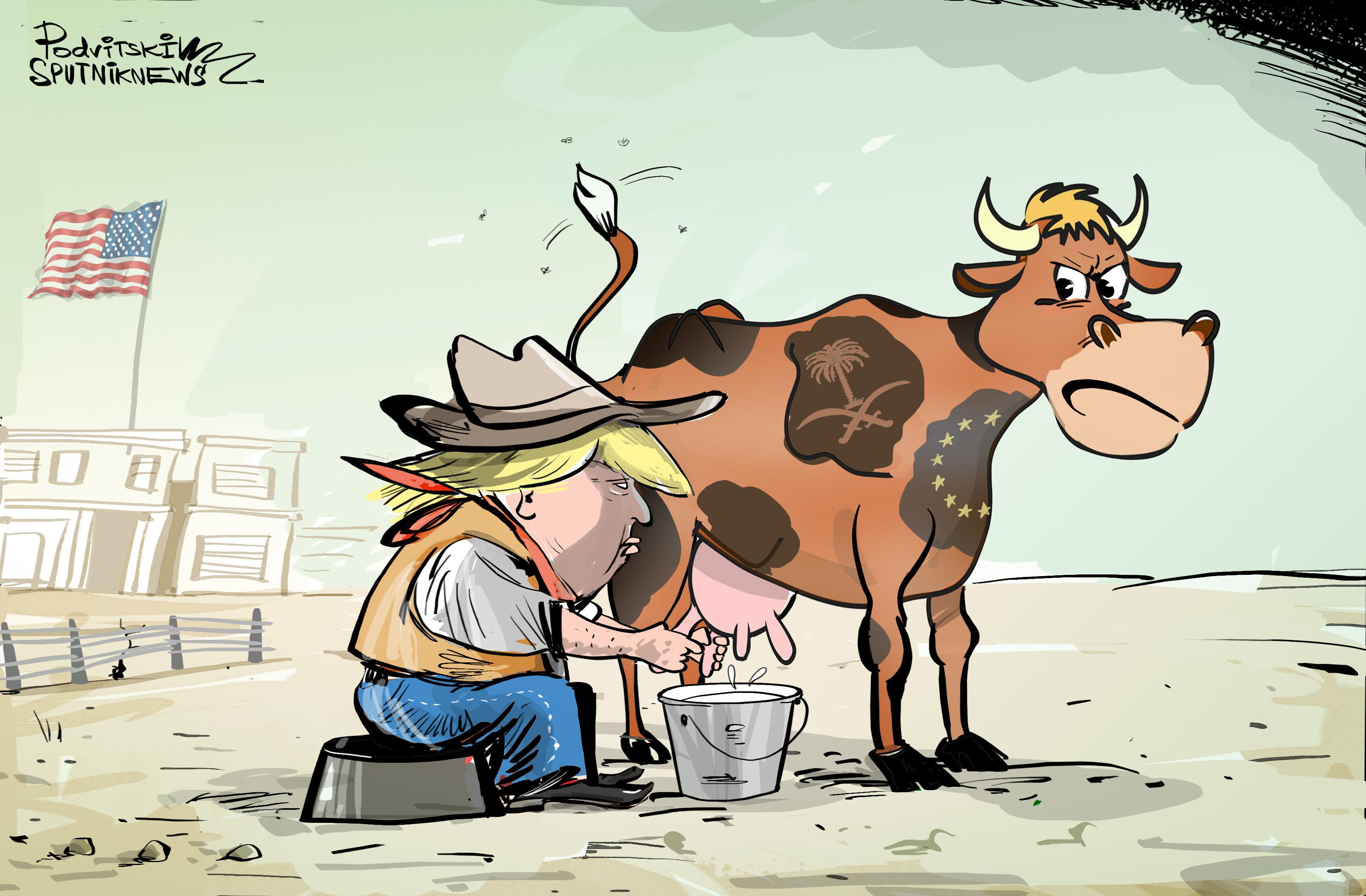 Trumpova dojná kráva