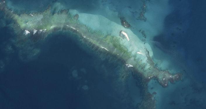Potopený Havajský ostrov po uragánu Walaka