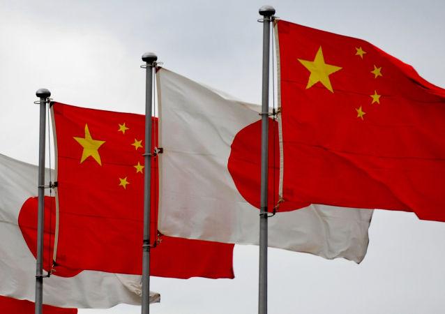 Čínské a japonské vlajky