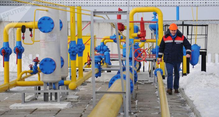 Plynárenská stanice Nežuchiv na Ukrajině