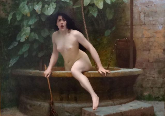 Pravda, která vylézá ze studny,  Jean-Léon Gérôme