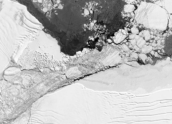Místo, kde se nachází pravoúhlý ledovec