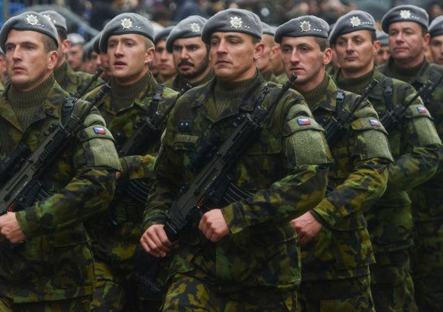 Čeští vojáci na přehlídce