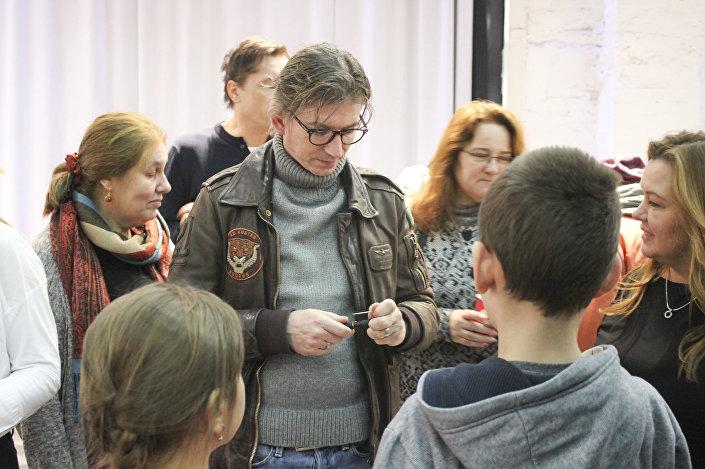 Český herec a režisér Jiří Strach na festivalu Monarchie v Moskvě
