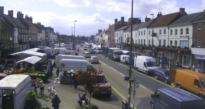 Město Northallerton, hrabství Severní Yorkshir, Velká Británie