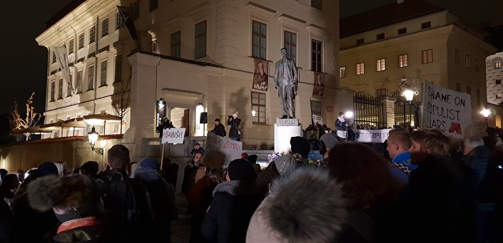 Demonstrace proti Babišovi 23. listopadu 2018.
