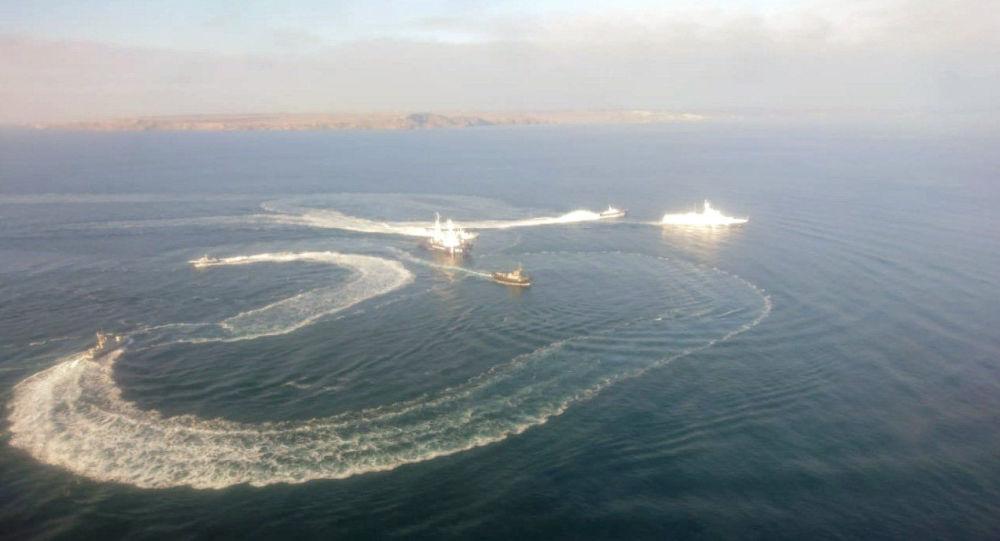 Tři lodě ukrajinského námořnictva překročily ruské hranice