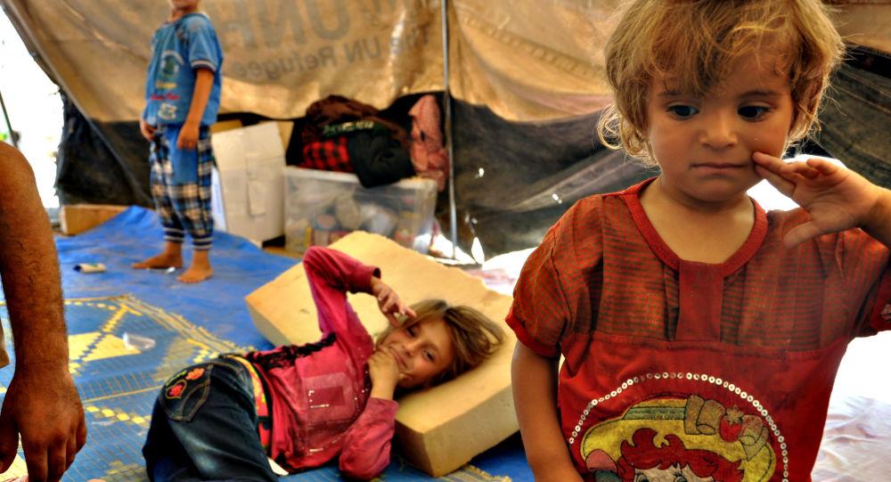 Vysídlené syrské děti