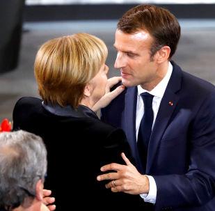 Německá kancléřka Angela Merkelová a francouzský prezident Emmanuel Macron