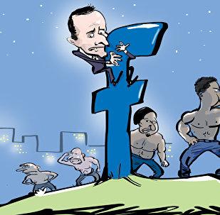 Facebook bojuje proti fotkám Macrona s polonahými muži