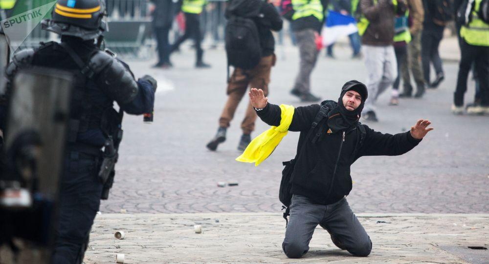 Protestních akce žlutých vest ve Francii