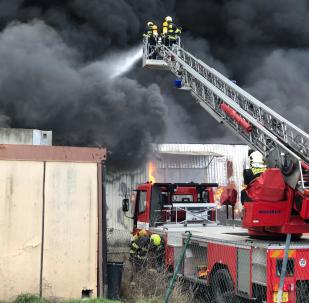 Požár v Praze