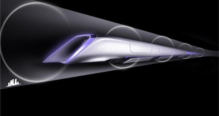 Vizualizace dopravního systému Hyperloop