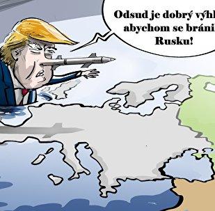 Trump se schovává za oceánem