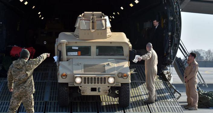 Americké obrněné vozy v Kyjevě
