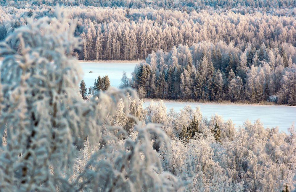 Zimní kouzlo ruských krajin