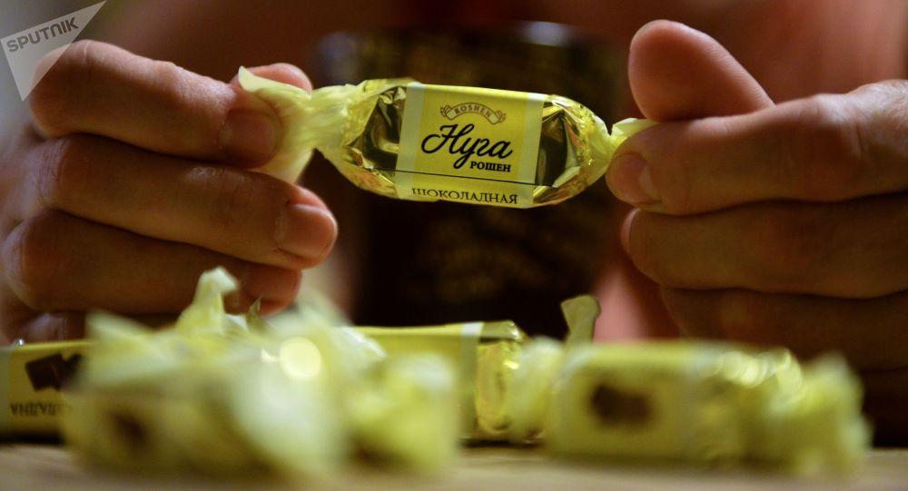 Čokoládové bonbony ukrajinské společnosti Roshen