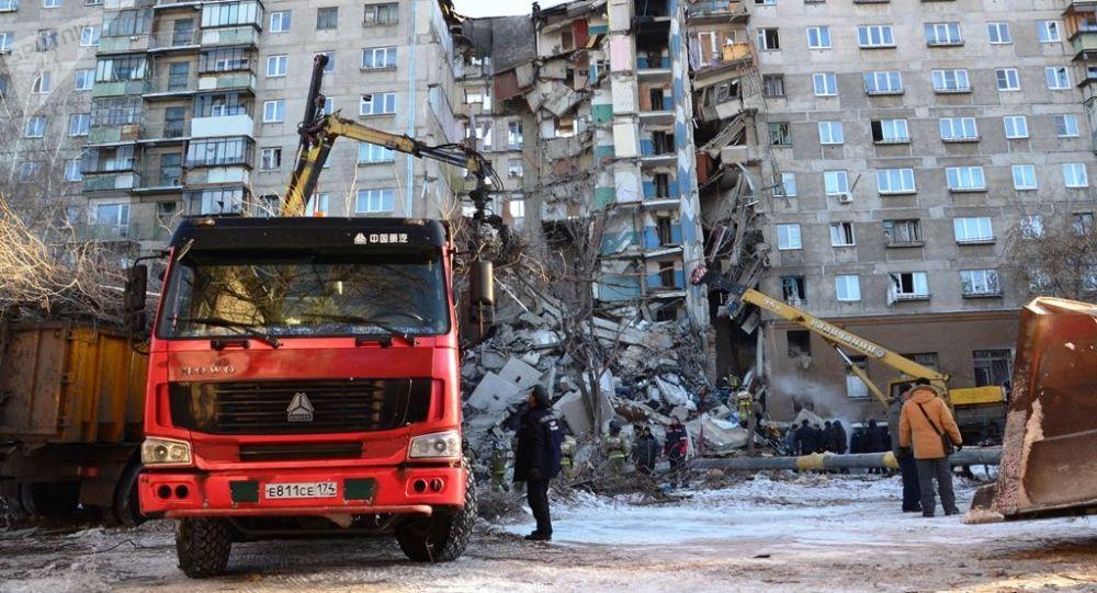 Dům v Magnitogorsku, kde došlo k výbuchu plynu