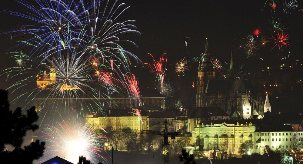 Novoroční ohňostroj nad Prahou, 2008