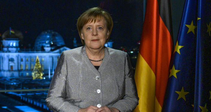 Angela Merkelová během svého novoročního projevu