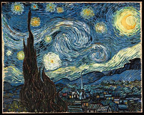 Obraz od nizozemského postimpresionisty Vincenta van Gogha Hvězdná noc