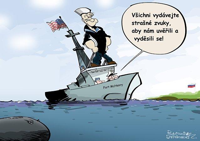 Americká lod v černém moři