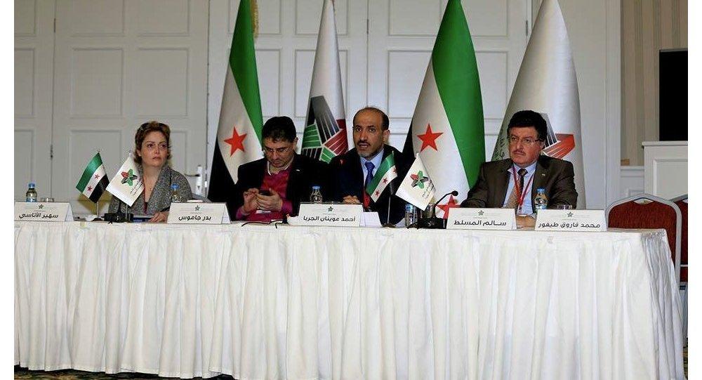 Lídři Národní koalice syrských opozičních sil