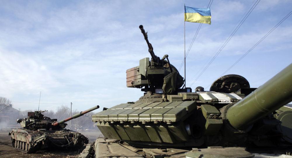 Ukrajinští vojáci v Horlivce