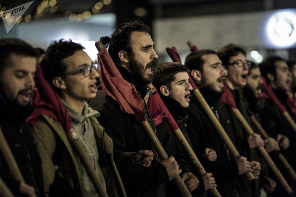 V Athénách se uskutečnila manifestace proti Angele Merkelové