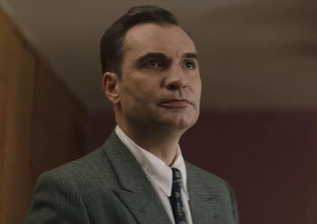 Český herec Jiří Macháček. Záběr z filmu Toman