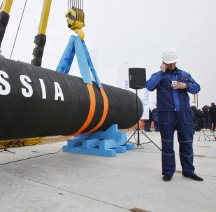 Stavba plynovodu Severní proud