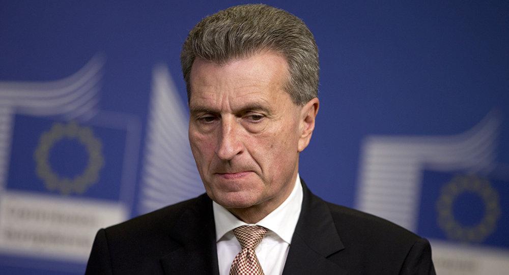 EU-Kommissar für Digitalwirtschaft, Günther Oettinger