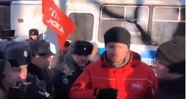 Sedm lidí bylo zadrženo během protestu proti předání Kurilských ostrovů