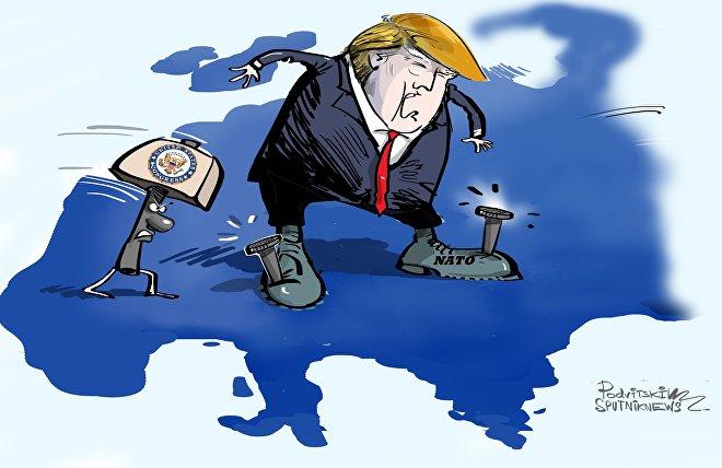 Trumpa připoutali k NATO