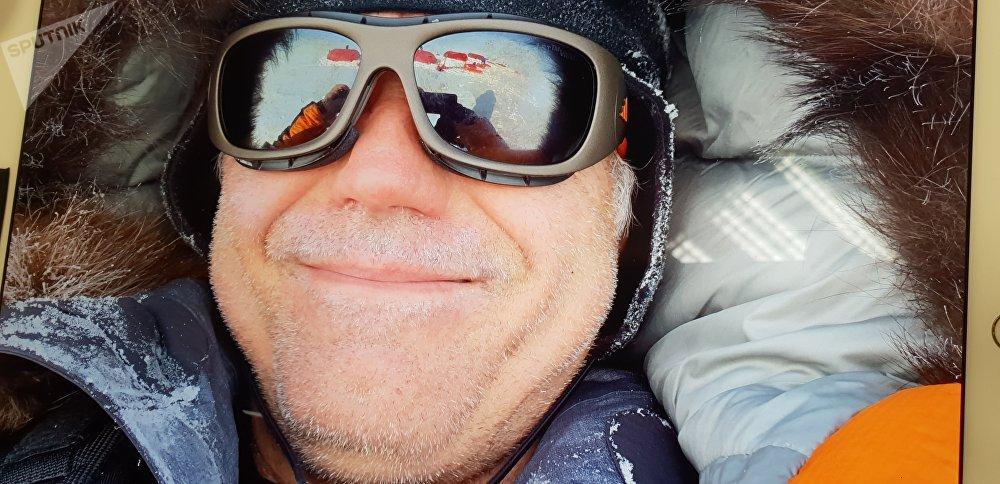 Pavel Sehnal na jižním pólu