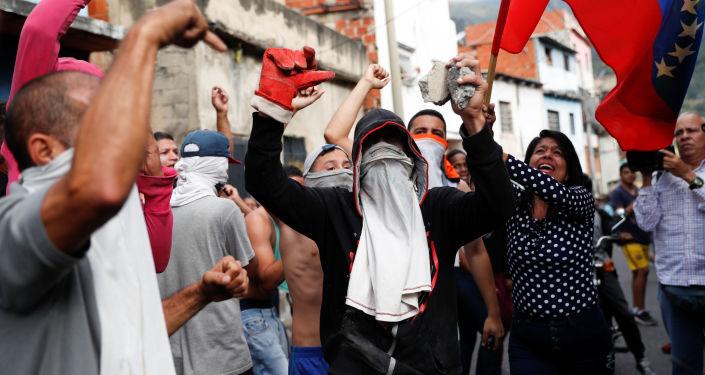 Masové protesty ve Venezuele