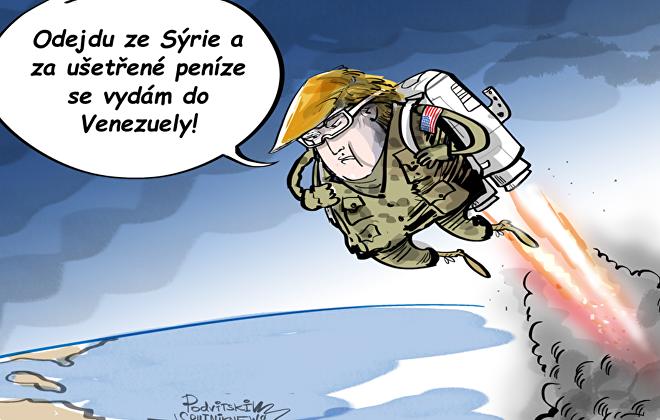 Trump ze Sýrie do Venezuely